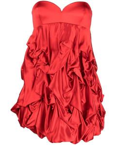 Silk Chiffon Long Dress in Purple