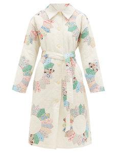 Linden patchwork quilted-cotton coat