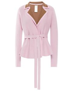 Woman Fallon Reversible Belted Merino Wool-blend Cardigan