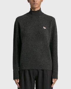 Baby Fox Patch Turtleneck Sweater