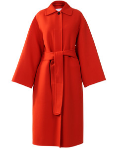 Wool coat orange