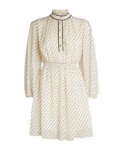 Polka-Dot Print Mini Dress