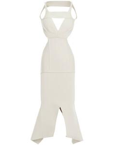 Woman Asymmetric Cutout Ponte Dress