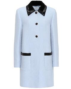 Sequined crêpe coat