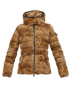 Bady leopard-print quilted down jacket