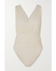 Velvet neck-tie cotton-blend shirt