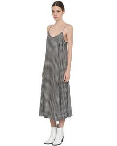 Printed Crepe Midi Dress