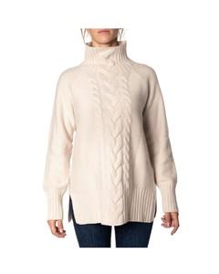 WOMEN'S 93660193000001 WHITE WOOL SWEATER