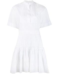 英式刺繡襯衫裙