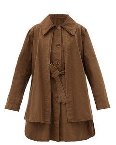 Layered cotton-Ventile coat