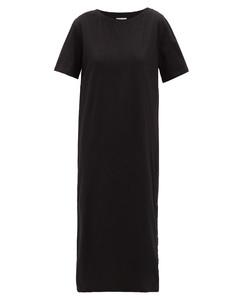 Press-stud cotton dress