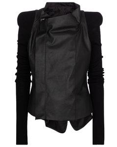 皮革和羊毛夹克