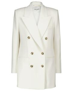 羊毛和羊绒双排扣西装式外套