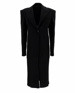Rib-Knit Tailored Coat