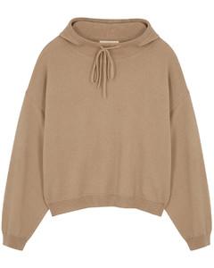 Linosa stone cashmere sweatshirt