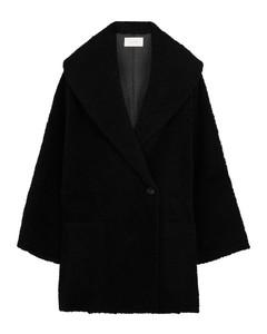 Misaki羊毛皮大衣