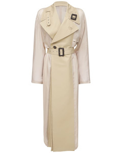 Belted Cotton Waterproof Trench Coat