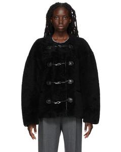 黑色Teddy Clasp夹克