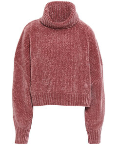 Woman Ribbed Cashmere-blend Chenille Turtleneck Sweater