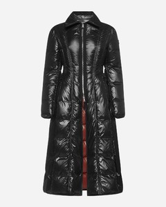 Liz long quilted nylon down jacket