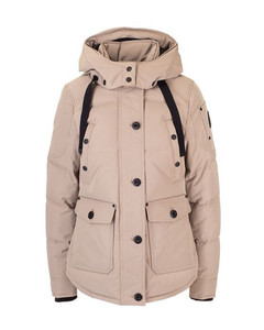 WOMEN'S M39LJ113N877 BEIGE POLYESTER DOWN JACKET