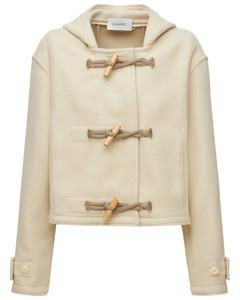 Cropped Wool Caban Duffle Coat