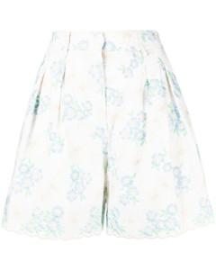 Kimonah大廓形配腰带印花斜纹布夹克