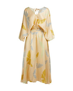 Papillons Gitans' print long dress