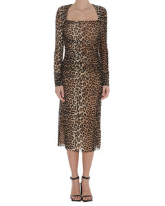 【千瑞珍同款】Leopard Printed Mesh Dress