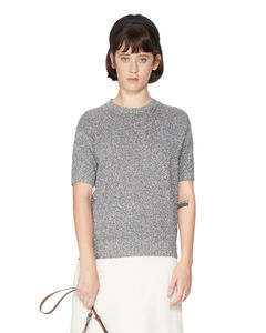 Asymmetric sequined gown