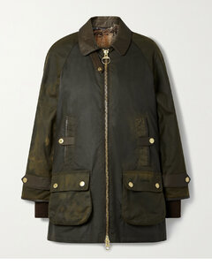 Norwood Leather-trimmed Waxed Cotton-canvas Jacket