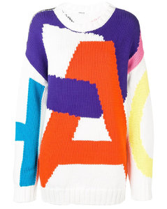 Statement faux-leather padded jacket