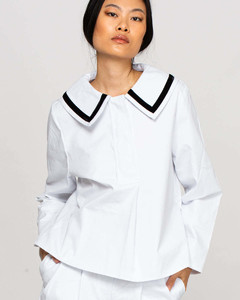 Wool Blend Double Breasted Long Coat