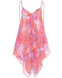 Paula's Ibiza printed silk top