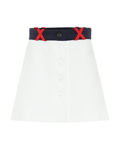 Techno jersey miniskirt