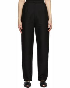黑色锥形长裤