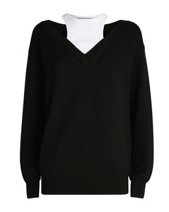 Bilayer Off-The-Shoulder Sweater
