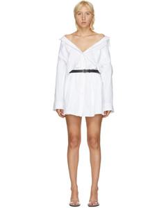 白色短款衬衫连衣裙