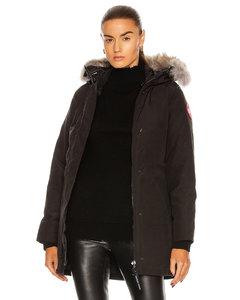 Victoria Parka With Coyote Fur in Black