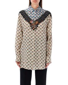 Ren floral-print satin mini dress