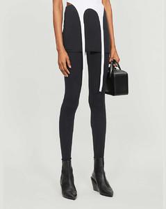 Raffi skirted cotton-blend leggings