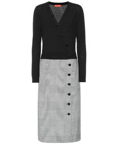 Wool-blend midi dress