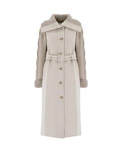 Lace-trimmed color-block stretch-knit mini dress