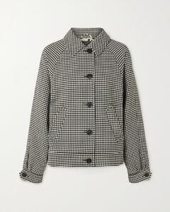 條紋針織中長連衣裙