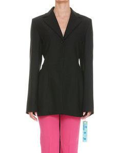 Cropped grain-de-poudre tapered trousers