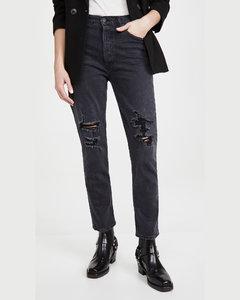 Charlotte高腰直脚牛仔裤