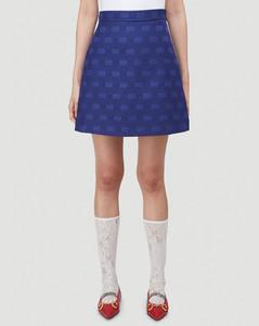 Interlocking G Diagonal Skirt in Purple