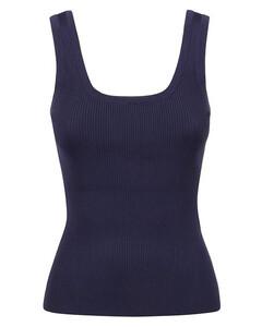 speckle-knit vest