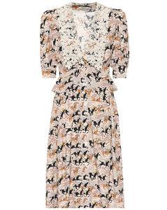 Printed sablémidi dress
