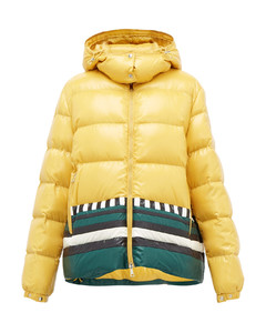 Gabrielle striped quilted down jacket